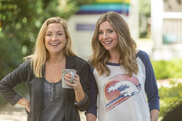 Kate Hudson, left, and Sarah Chalke, right, in Mother's Day.